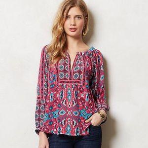 Silk tolani blouse